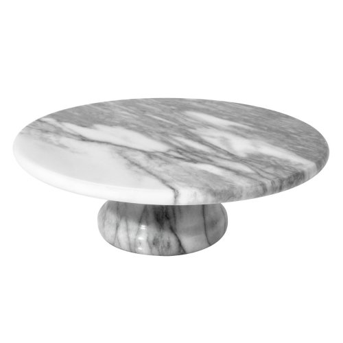 Marble Cake Stand, White