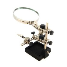 "Heavy Duty Helping Hands Magnifier - 3.5"" Magnifying Glass"