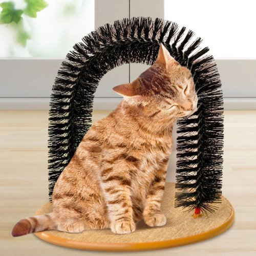 Cat Self Groomer Hair Kitten Kitty Massage Massager Scratcher Carpet