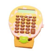 8 Digits LCD Display Ballon Shape Business Mini Calculator, Pink