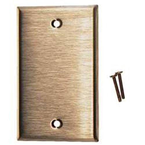 Leviton Stainless Steel Single Gang Blank Box Mount  003-84014