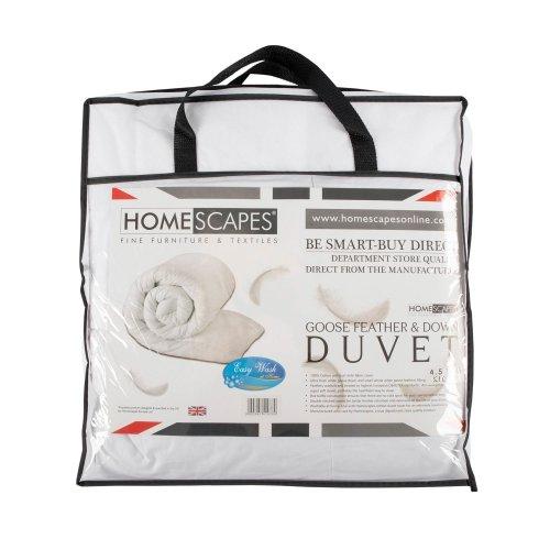 Homescapes Kids Cot Duvet 120 x 150 cm 4.5 Tog Goose Feather & Down - Anti Allergen - Luxury Washable Toddler Quilt