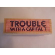 Dovecraft Smirk Stamp - Trouble With A Capital T - SMRS01/T