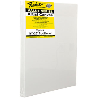 "Tara Fredrix Value Stretch Canvas Twin Pack-16""X20"""