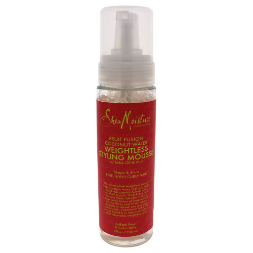 Fruit Fusion Coconut Water Weightless Styling Mousse by Shea Moisture for Unisex - 8 oz Mousse