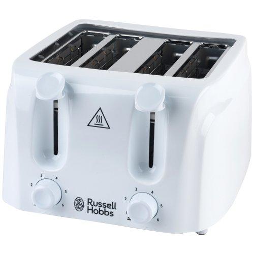 Russell Hobbs 21860 4-Slice Essentials Toaster, White