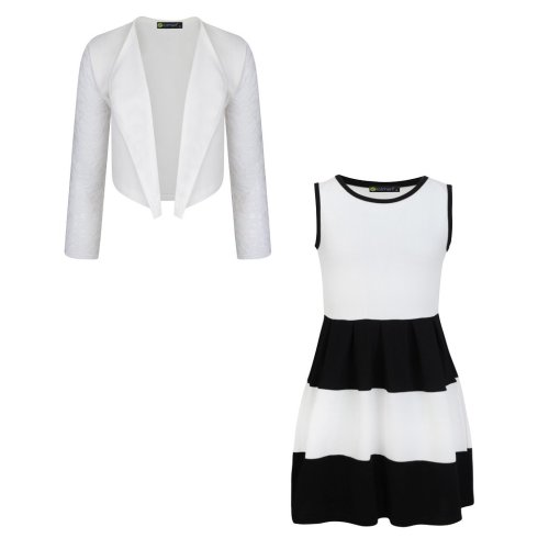 Girls Sleeveless Dress Bundle with Bolero