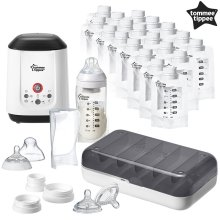 Tommee Tippee Express & Go Complete Breast Milk Starter Set | Baby Feeding Kit