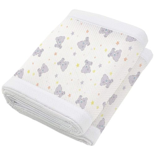 Breathable Baby Mesh Crib Liner 4 Sided - Tiny Tatty Teddy