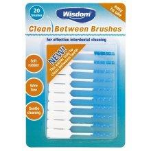Wisdom Clean Between Brushes (green) - Interdental Pack 20 Sizes Medium Wire -  clean between brushes wisdom interdental pack 20 sizes medium wire