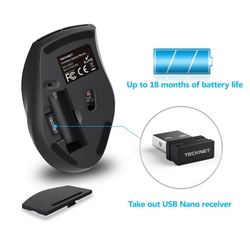 bd1e9ec375b ... TeckNet M002 TrueWave 2.4G Wireless Mouse - Black - 4 ...