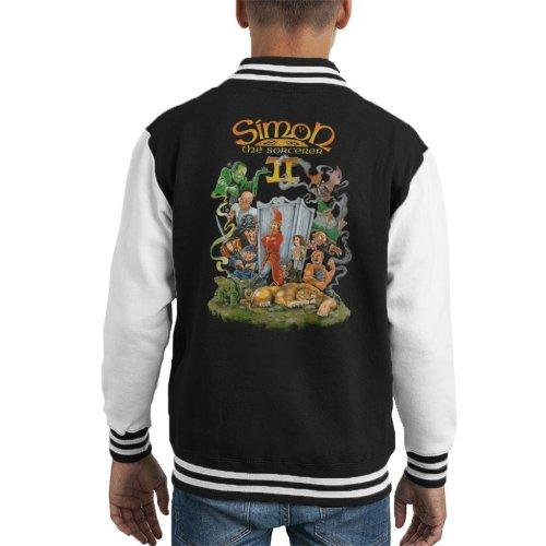 Simon The Sorcerer II Cover Art Kid's Varsity Jacket