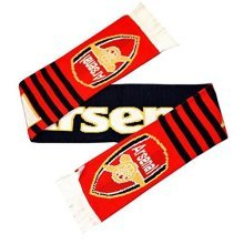 Arsenal Stripe Scarf - Official Fc Freeuk Pp -  official arsenal fc scarf freeuk pp