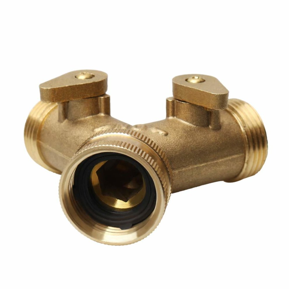 Garden & Outdoors 3/4 Tap Y Splitter Brass Manifold Two Way Washing Machine Hose Connector Hoses & Accessories kuou Brass Manifold