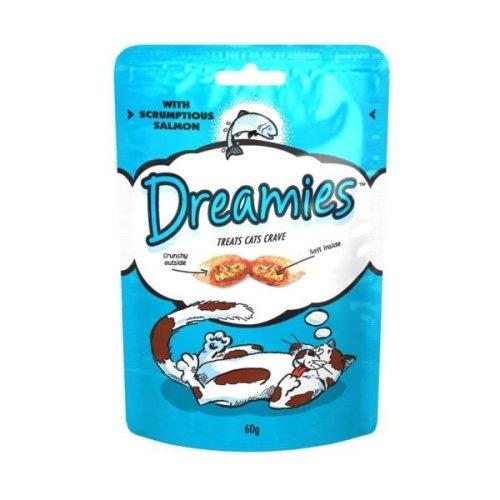 Dreamies Salmon Cat Treats (8 x 60g)