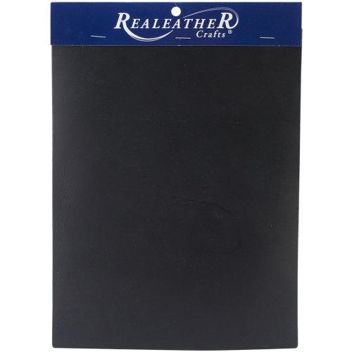 """Realeather Crafts Leather Triumph Trim Piece 8""""X11""""-Black"""