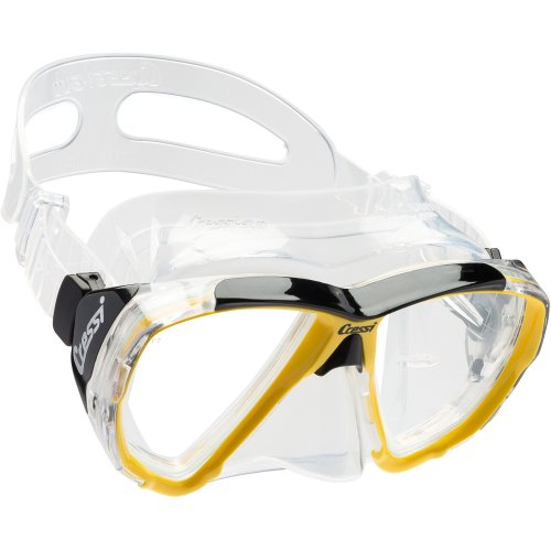 Cressi 1946 Big Eyes Scuba Diving and Snorkeling Mask - Yellow