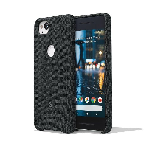 Google Pixel 2 Phone Case Cover Tailored Fabric Active Edge Compatible - Carbon
