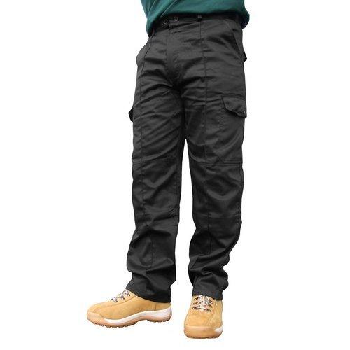 """Click PCTHWBL30T Super Polycotton Work Trousers Black 30"""" Long"""