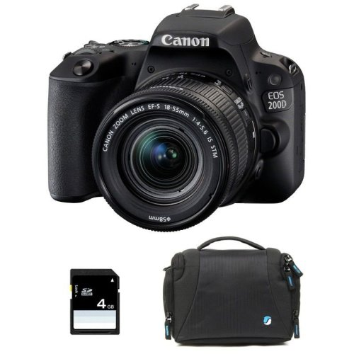 CANON EOS 200D Black KIT EF-S 18-55mm F4-5.6 IS STM Black
