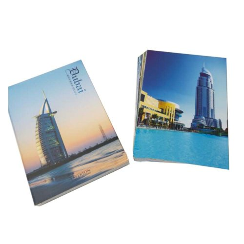 Postcard Hand Set Collection Set City View Painting Greeting Card  #2