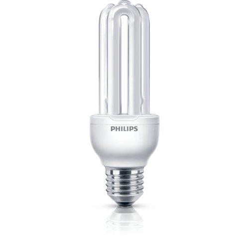 Philips Economy Compact Fluorescent Stick E27 Edison Screw Light Bulb, 18 W (83 W Equivalent, 6000 Hours) - Warm White