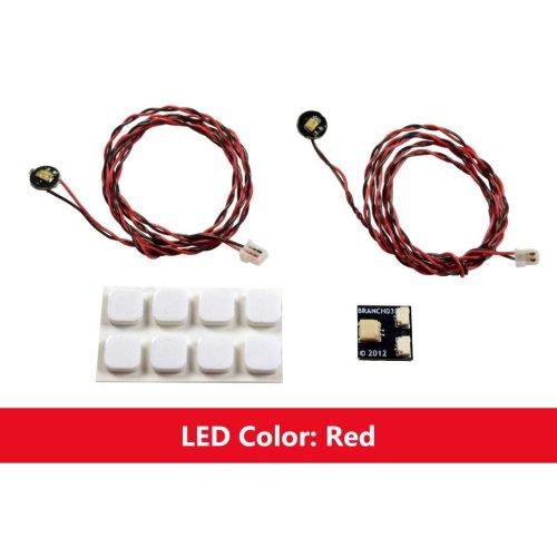 Brickstuff Red Flashing Pico LED Light Board 2-Pack - LEAF01-PFR-2PK
