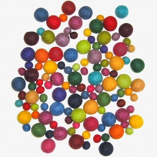 D72-74014 - Dimensions Wool Felt - Ball Assortment