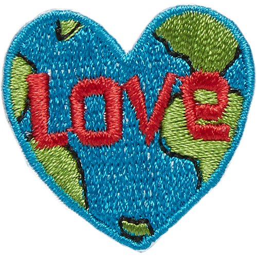 Blumenthal Iron-On Appliques-Love Earth