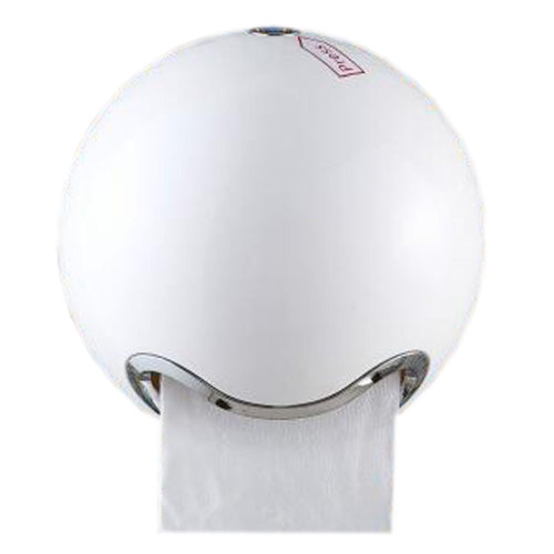 Creative Toilet Paper Roll Holder Tissue Box with Cover Paper Frame Roll Paper Box, Spherical White