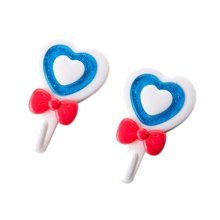 Set of 4 Special Cartoon Blue Heart-Shaped Coat Hooks, Wall Hooks