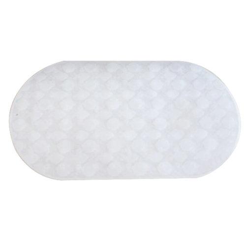 Silicone Bathroom Anti-slip Mat Toldder Bathtube Mat -White