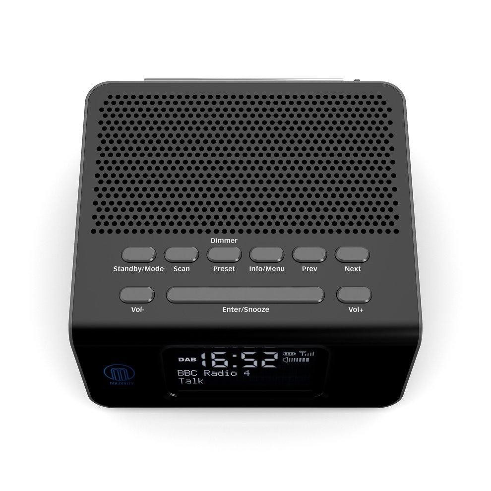 Majority Abbey BT DAB/DAB+/FM Battery Portable Radio, Bluetooth, Dual USB  Device Charging, Dual Alarm Clock, Snooze and Sleep (Black)