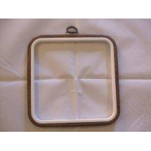 "Siesta 6"" Square Plastic Flexi Hoop - Woodgrain Effect"