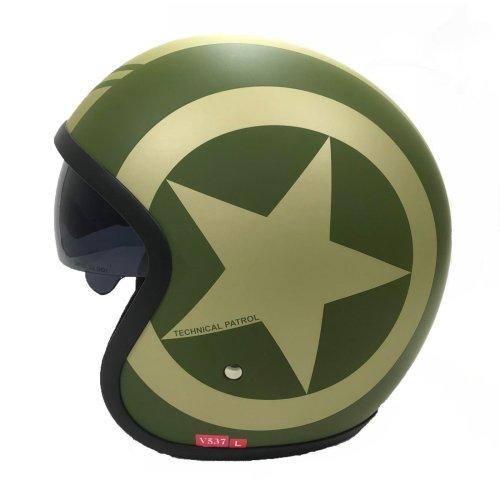 Viper RS-V06 Green Star Open Face Helmet