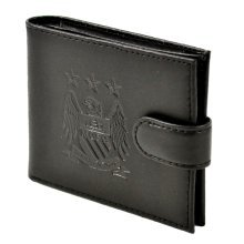 Manchester City Unisex Crest Embossed Leather Wallet, Multi-colour