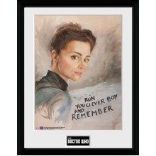 Doctor Who Clara Painting Framed Collector Print