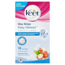 Veet Wax Strips for Sensitive Skin - Pack of 16