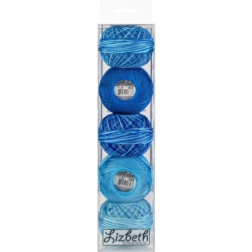 Handy Hands Lizbeth Specialty Pack Cordonnet Cotton Size 20-Turquoise Twist 5/Pkg