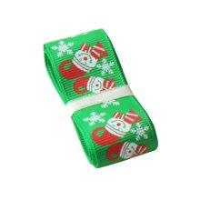Christmas Decor Craft [Smile, Green] Home Decor Ribbon for Christmas