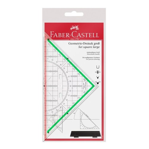 Faber Castell 177090 20 cm Triangle With Handle