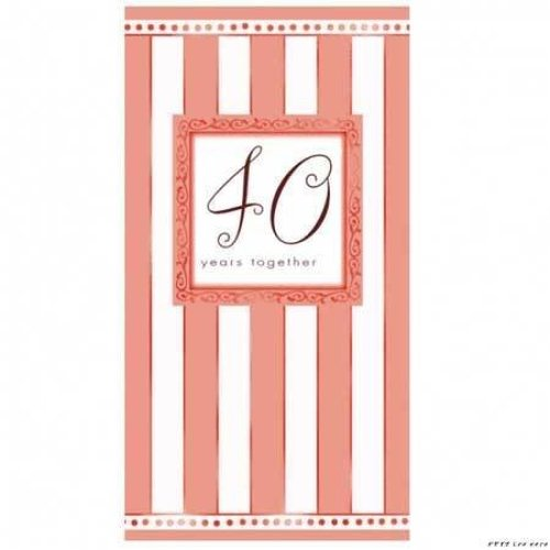 40th Anniversary Folded Invitations