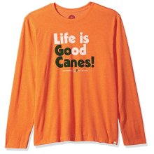 NCAA Miami Hurricanes Mens Longsleeve Cool Tee Lig Go Team Shirts, Large, Sport Orange