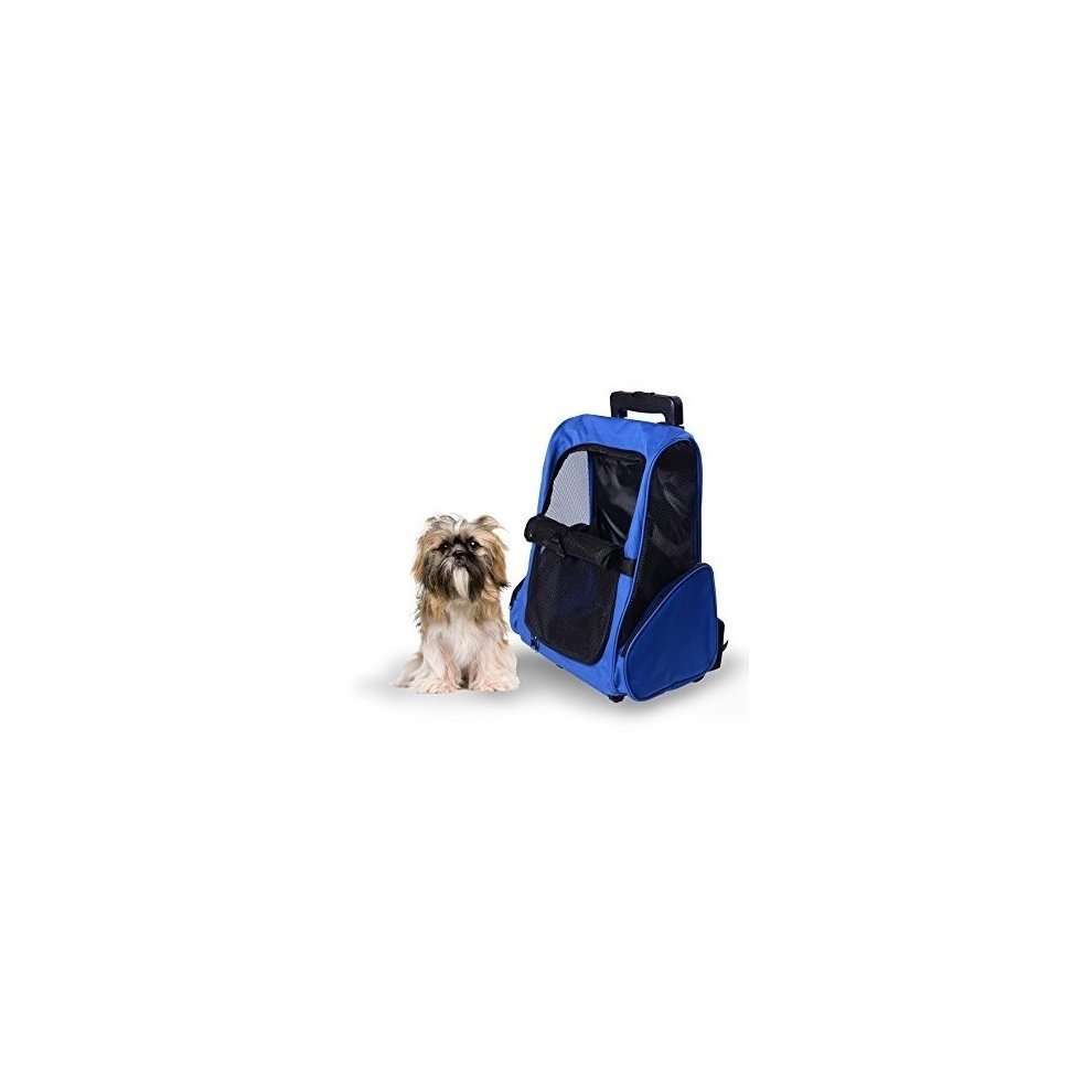 723b14abedbe Pawhut Pet Travel Backpack Bag Cat Puppy Dog Carrier W  Trolley on OnBuy