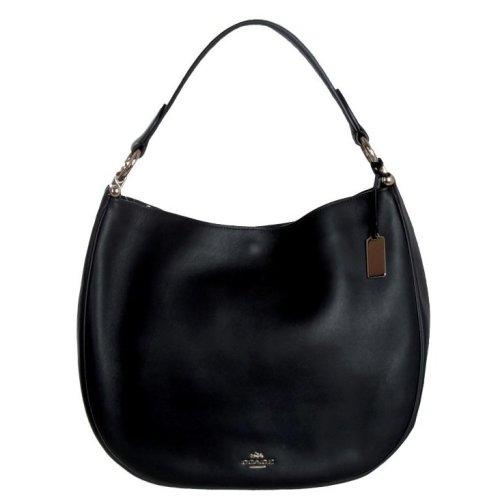 COACH Nomad Hobo in Glovetanned Leather Handbag - Black - 36026-LIBLK