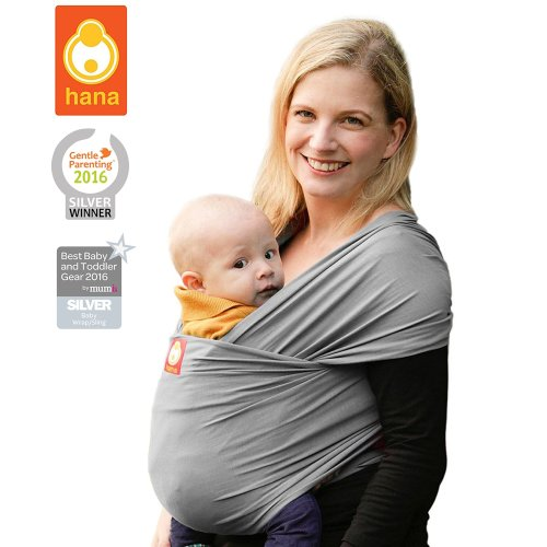Hana Standard Bamboo Baby Wrap Light Lush And Breathable Baby Slings Bamboo Cotton Elastane Free Shipping Slate