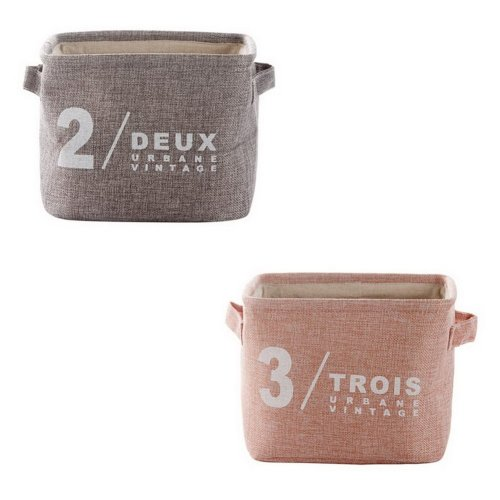 Set Of 2 Cotton Linen Storage Baskets Keys Toys Snacks Debris Storage Box, 2 + 3