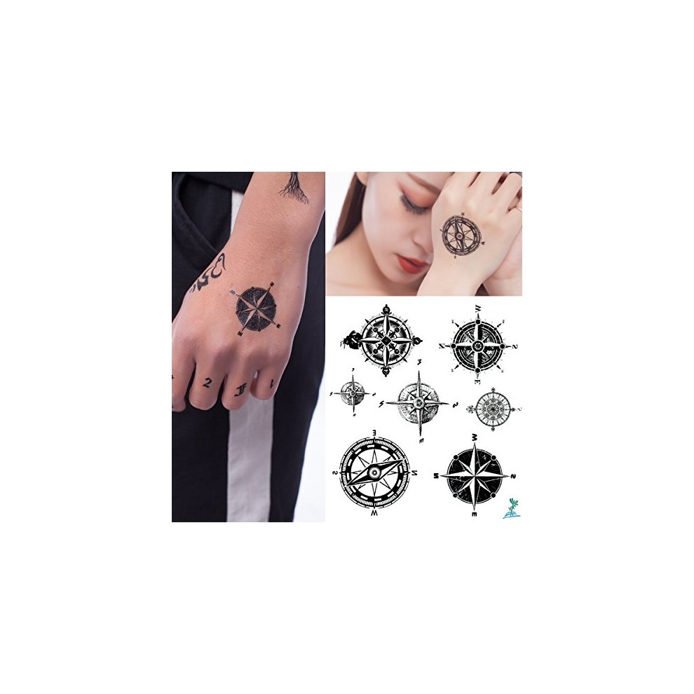 One Size Red Occult Rams Head Star Transfer Tattoo Set