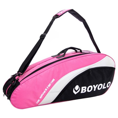 Modern Simple Badminton Equipment Bag Badminton Racket Bag PINK