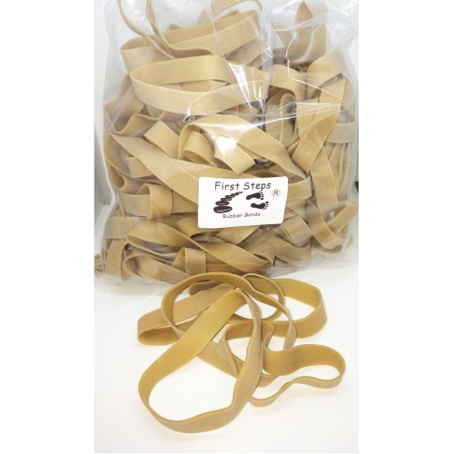 """140 x Large Thick 4"""" x 1/2 """" Strong Rubber Elastic Bands No.85 100mm x 12.7m"""